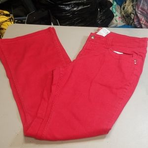 No Boundaries women Red Jeans size 13